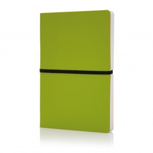 Deluxe softcover A5 notebook, green
