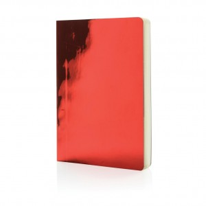 A5 Deluxe metallic notebook, red