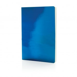 A5 Deluxe metallic notebook, blue