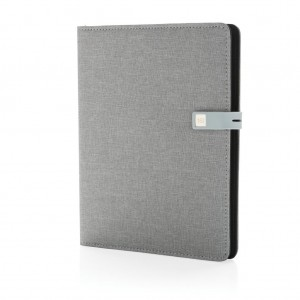 Kyoto A5 notebook with 16GB USB, grey