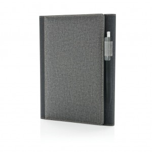 A5 Deluxe design notebook cover, grey