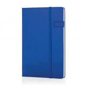 Data notebook with 4GB USB, royal blue