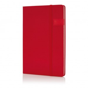 Data notebook with 4GB USB, red