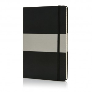 A5 squared hardcover notebook, black