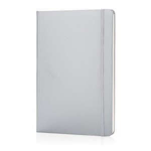 Classic hardcover notebook A5, silver