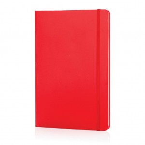 Classic hardcover notebook A5, red