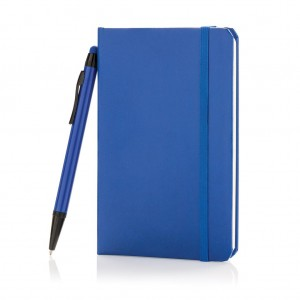 Standard hardcover A6 notebook with stylus pen, royal blue
