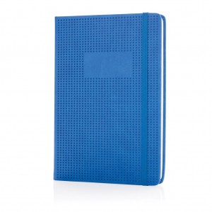 Deluxe hollowed hardcover PU notebook, blue