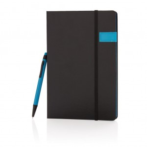 Deluxe 8GB USB notebook with stylus pen, blue