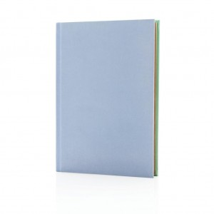 Deluxe fabric 2-in-1 A5 notebook ruled & plain, lilac/mint
