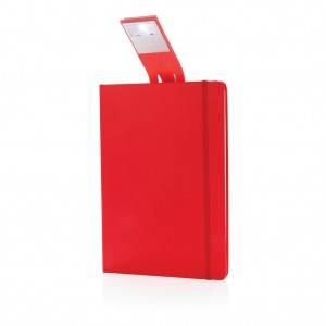 A5 Notebook & LED bookmark, red