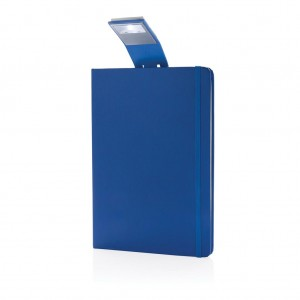 A5 Notebook & LED bookmark, blue