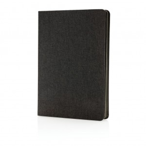 Deluxe fabric notebook with black side, black