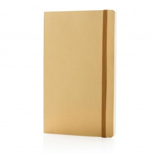 Deluxe metallic softcover notebook, gold