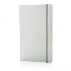 Deluxe metallic softcover notebook, silver