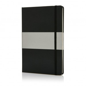Deluxe hardcover A5 notebook, black