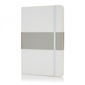 Deluxe hardcover A5 notebook, white