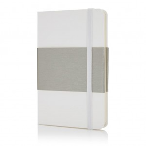Deluxe hardcover A6 notebook, white