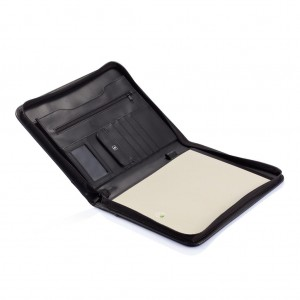 Essential zipper portfolio, black