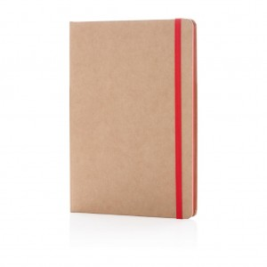 Eco-friendly A5 kraft notebook, red