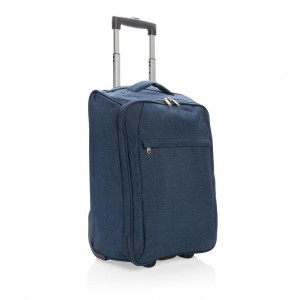 Two tone foldable trolley, navy